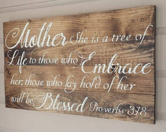 Mother Bible Verse Sign
