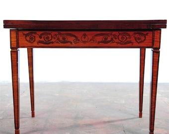 Italian Venetian Renaissance Beautiful Antique Game Table w/Folding Top