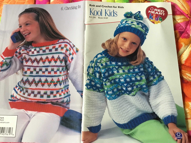 Red Heart - KOOL KIDS - Knitting / Crochet Patterns Only from ...
