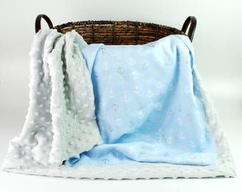 Baby Boy Blankets / Personalized Boy Blanket