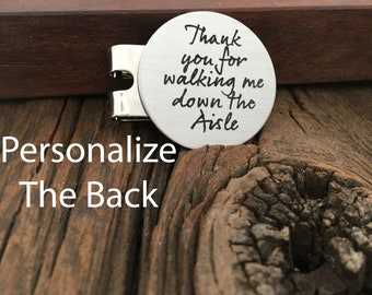 Thank You For Walking Me Down The Aisle Golf Ball Marker Personalized Marker Unique Gift For My Father Personalized Wedding Gift For Dad