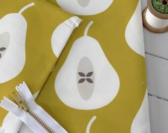 STUDIO SALE - Large Pear in Mustard Fabric Scrap Pack