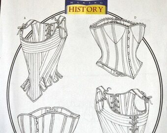 Misses' Corsets Historical Sewing Pattern Butterick 4254    Bust 34-38 inches Complete Uncut FF