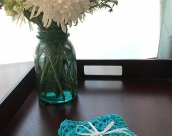 Crochet Dishcloth, 100% Cotton, Set of 2, Crochet Washcloth