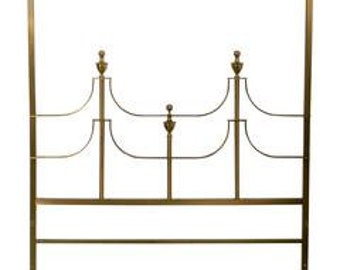 Headboard Brass Mastercraft William Doezema Baker Furniture Queen Bed Glam Hollywood Regency Mid Century Modern Vintage Glam Boho Bohemian