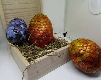 Dragon Eggs || Decorative Egg || Geek Gift || Game of Thrones Inspired