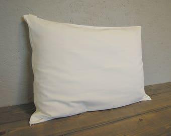 Pillow Protector, Pillow Cover, Organic Cotton, Pillow Cover Zipper, White, Natural, Twin, Queen, King