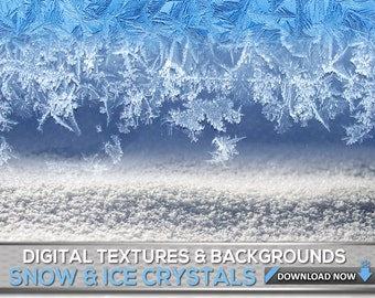 60 Winter Ice And Snow Textures &  Backgrounds - Ice And Snow Photoshop Overlays, Backgrounds, Textures And Patterns Collection