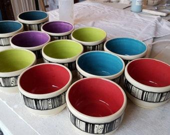 Stripe bowl, pick your color!