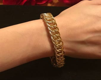 Women's Gold and Silver colored Chainmaille Bracelet