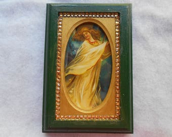 Framed angel picture
