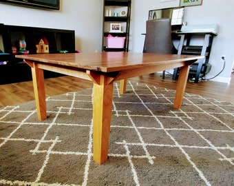 Walnut and cherry coffee table, all hardwood