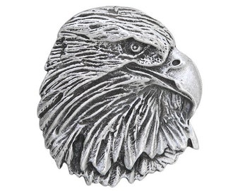 2 Eagle Raptor 1.25 inch ( 32 mm ) Pewter Buttons Antique Silver Color