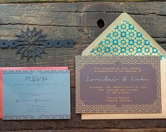Casablanca Wedding Invitation Sample