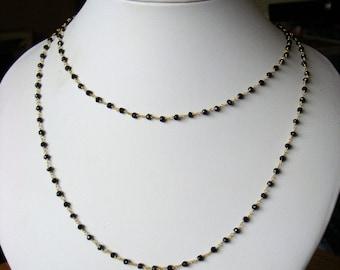 Necklace - Gold plated 925 sterling - Genuine Gemstones