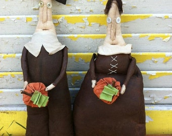 Primitive Thanksgiving Pilgrims Jigs and Gertie Give Thanks