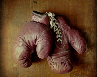 Vintage Boxing Gloves by Hutch, 1940s-1950s