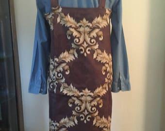 Japanese style cross back apron