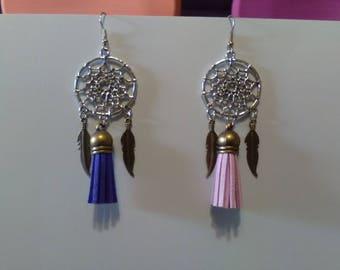 Dream catcher earrings and tassels