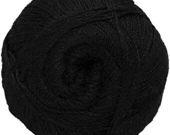 Black Yarn - 100% Alpaca - Fine - 100 gr./ 400 yd.
