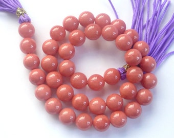 10mm Salmon color  sea shell pearl beads