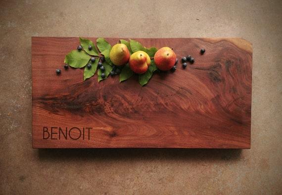 Personalized Cutting Board - Black Walnut Extra Thick