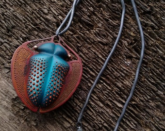 Coleoptera Pendant (blue) MADE TO ORDER