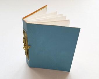 SALE! 20% off! Mini journal, journal, hand-bound book, binding, pockets, book, mono-print