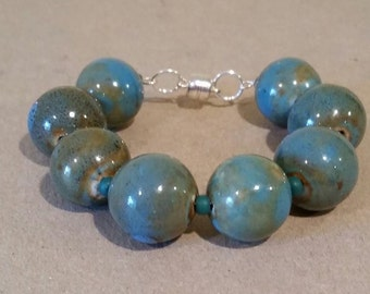 Blue-Green Ceramic Bracelet