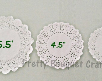 "WHITE French Lace Paper Doilies|3.5"" French Lace Paper Doilies