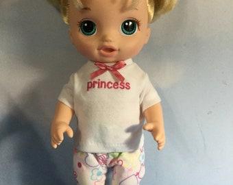 "Princess pjs fits 12"" Baby Alive"