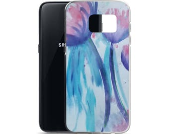 Melting Tulips, Samsung Cell Phone Case, Watercolor Painting, Galaxy Phone Case