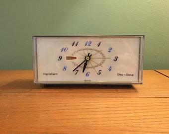 Vintage Working Ingraham Day-Date Alarm Clock