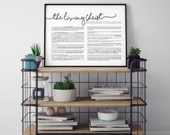 Horizontal Living Christ Print- on Premium Paper- LDS