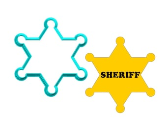 Sheriff Badge Cookie Cutter