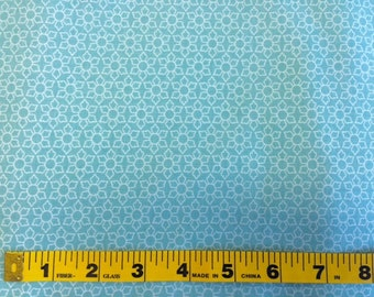 Half Yard, Blue Delighted Daisy, Delighted Collection, The Quilted Fish - Riley Blake - Blue, White, Quilting Cotton Fabric