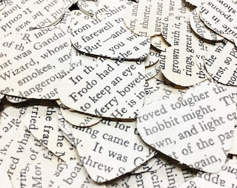 500 Lord of the Rings confetti hearts , party , wedding , card making , smashbooks, table top confetti
