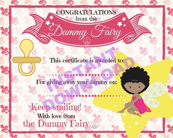 Certificate from the Dark Skin Dummy Fairy