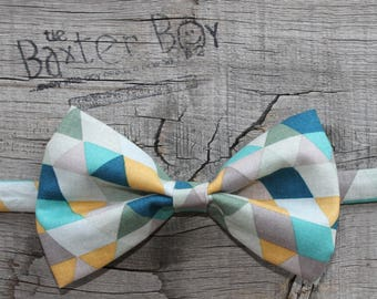 Lakeside triangles bow tie for boys - photo prop, ring bearer, wedding