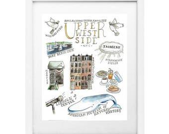 "Some Awesome Things About the Upper West Side 8x10"" Print"