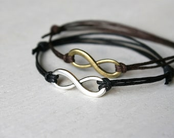 Infinity Bracelet, Infinity Anklet (many colors to choose)