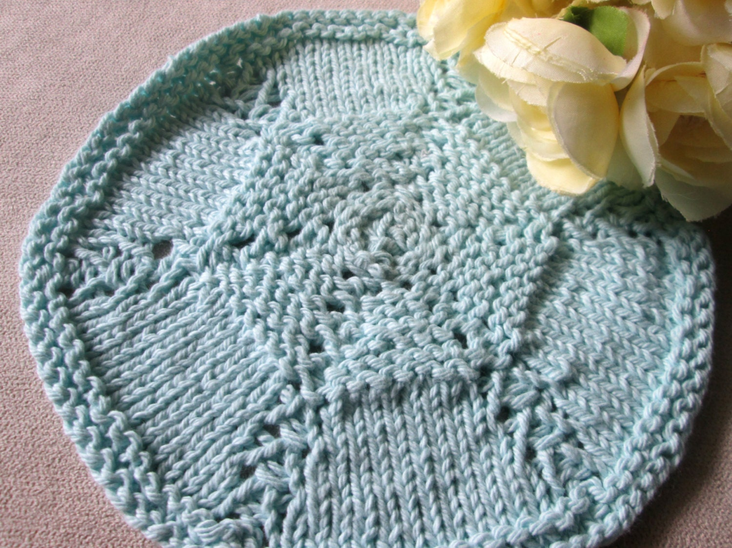 Round Dishcloth Knitting Pattern, Circular Dishcloth Knitting ...