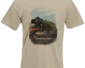 The Flying Scotsman T-shirt Steam Locomotive No. 4472 in all Sizes