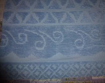"32"" by 25"" Vintage Chenille Bedspread Piece   Powder Blue"