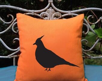 Australian Crested Pigeon Dove Bird Orange  Cotton Cushion Cover