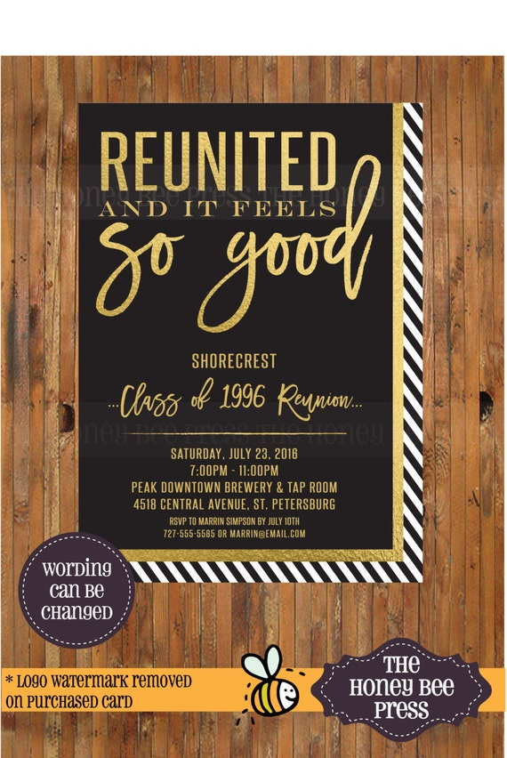 High school reunion invitation reunited and it feels so good high school reunion invitation reunited and it feels so good invitation class reunion college reunion family reunion item 0291 stopboris Gallery