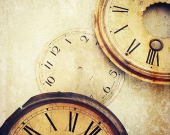 Steampunk Clock Photography  Clock Faces Home Decor 10x8 Print Timeless...