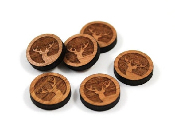 Laser Cut Supplies- 8 Pieces.Woodland Elk Charms -Cherry Wood Laser Cut Elk -Earring Supplies-Little Laser Lab Sustainable Wood Products