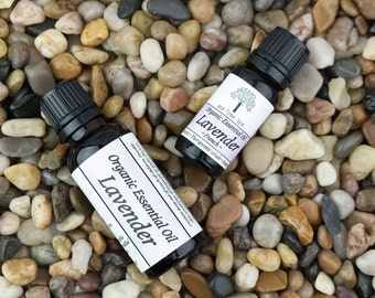 Organic Lavender Essential Oil • Pure • Therapeutic Grade • Uncut • Awesome • 10ml or 30 ml Amber Glass Bottle With Dropper Caps