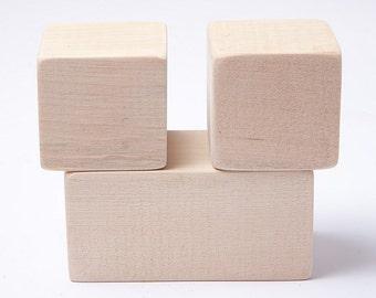Unfinished baby age blocks , photo blocks, photo prop, month blocks, blank wood blocks, blocks for DIY, diy baby gift